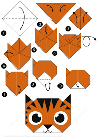 Step By Step Origami For - how to make an origami tiger step by step free