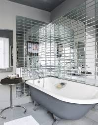 glamorous bathroom with fabulous mirrored tiles glamorous