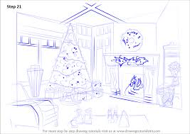 learn how to draw christmas celebrations christmas step by step