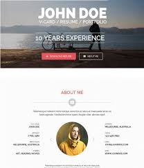 55 awesome personal vcard u0026 resume website templates wpfreeware