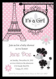 parisian baby shower baby shower invitations marvelous baby shower invitations