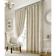 elegant and sophisticated ivory damask patterned curtains with