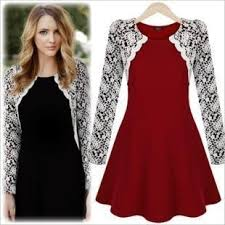nice top fashion red s m l new women winter spring embroidery lace