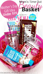 mothers day gift idea under 25 moms time out beauty basket