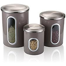 kitchen canisters stainless steel fc airtight window kitchen canister stainless steel