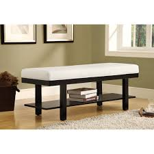 modern entryway table white entryway bench with espresso wooden leg design for white