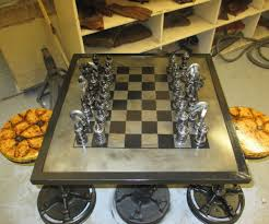 car part chess set with pictures
