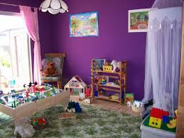 pretty purple kids playroom interior design ideas pink curtain
