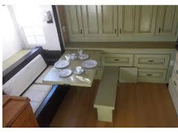 Tiny Home Dining Table Pull Out Table And Bench Cabinets Are Also Pull Out And This Wall