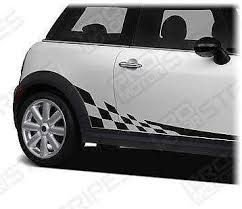 mini cooper porsche mini cooper 2008 2017 checkered side stripes porsche style decals