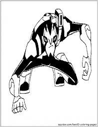 rook blonko coloring picture ben 10 omniverse cartoon
