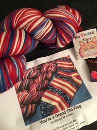 Youre A Grand Old Flag Patriotic Sock Yarn And Red White And Blue Party Items U2013 Ruth E