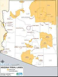 Map Of Arizona And California by Arizona Tribal Lands Maps Air Quality Analysis Pacific