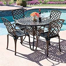 Aluminum Patio Dining Set Best Choice Products 5 Cast Aluminum Patio