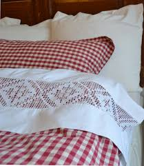 Red Gingham Duvet Cover Pretty U0026 Cheery Sheets Duvet And Shams Red And White Gingham