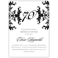 70th birthday party invitations badbrya com