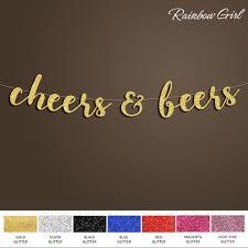 wedding backdrop banner cheers beers banner gold glitter sign backdrop banner bridal