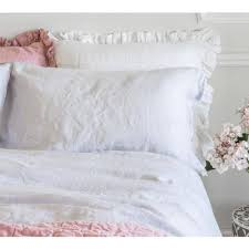 olivia ruffle pure linen white cushion ruffle cushions