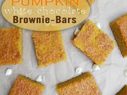 How To Make White Chocolate How To Make Pumpkin White Chocolate Brownies Recipe Snapguide
