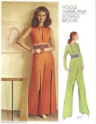 1970s jumpsuit 1970 s vogue 2557 donald slit leg jumpsuit pattern