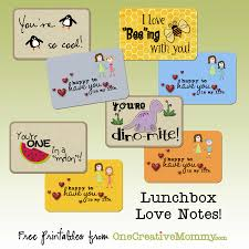 lunchbox love notes onecreativemommy com