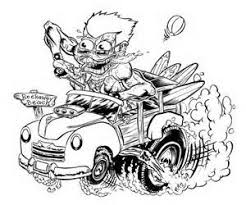 coloring page of a rat rat rod coloring pages yahoo image search results rat rod