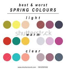worst colors stock vector seasonal color analysis palette for spring type of