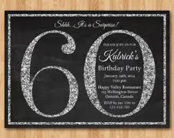 60th birthday invitation blue glitter birthday party invite