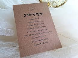 wedding ceremony cards wedding order of service order of service for weddings from 50p