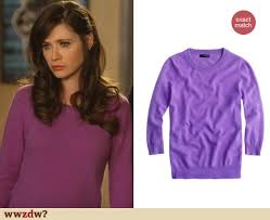 tippi sweater zooey deschanel s purple sweater on wwzdw what would