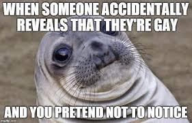 Seal Gay Meme - awkward moment sealion meme imgflip