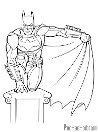 batman coloring pages print color
