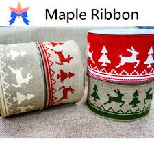 merry christmas ribbon 2015 reindeer wired christmas ribbon buy wire edge christmas