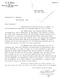 Society Letter Before Language Proclamation Concern Letter 1918 Idca