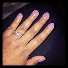 gel manicure with gelaxy color change polish purple to pink with