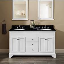 White Double Vanity 60 Fairmont Designs Framingham 60