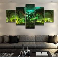 5 panel canvas printed blizzard warcraft illidan stormrage