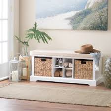 White Entryway Furniture White Indoor Benches On Hayneedle White Entryway Bench
