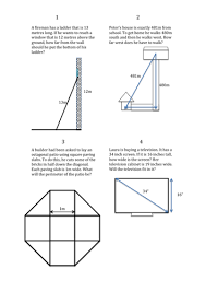 real life pythagoras problems by bethdymond teaching resources tes