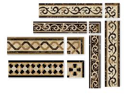 building material waterjet marble border design from