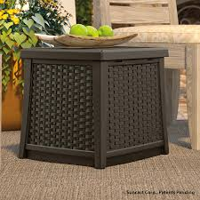 amazon com suncast elements end table with storage java garden