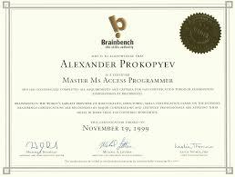 Senior Programmer Resume Certified Master Ms Access Programmer Earned On November 19 1999