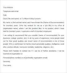 awesome collection of job recommendation letter sample friend in