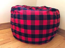 bean bag chair cover buffalo plaid lumberjack bean bag