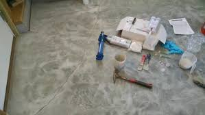 Concrete Floor Repair Concrete Floor Crack Repair I Show You How To Fix A Cracked