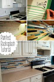 kitchen how to paint a backsplash look like tile kitchen your