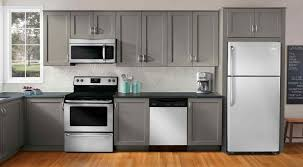 cabinets u0026 drawer grey kitchen cabinets white appliances 3391