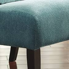 Contemporary Accent Chair Anora Fabric Armless Contemporary Accent Chair Teal
