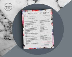Indesign Resume Template Annabel Sotherby Beautiful Resume And Cover Letter Template