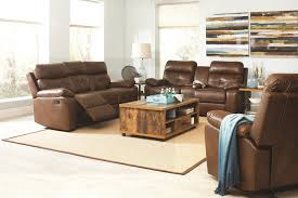 buy damiano casual faux leather reclining loveseat with button